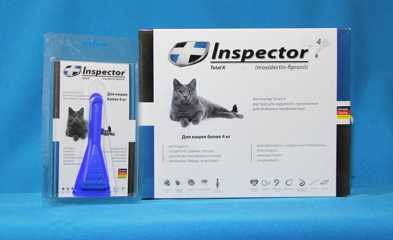 Инспектор для кошек: как применять капли от блох и клещей, отзывы, аналоги