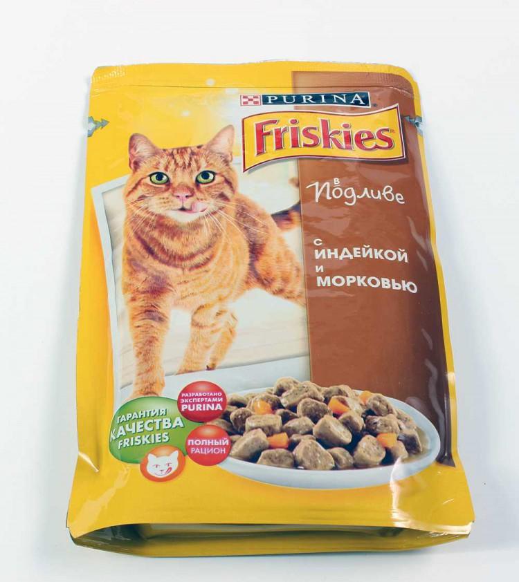 Обзор кормов для кошек фрискис (friskies)