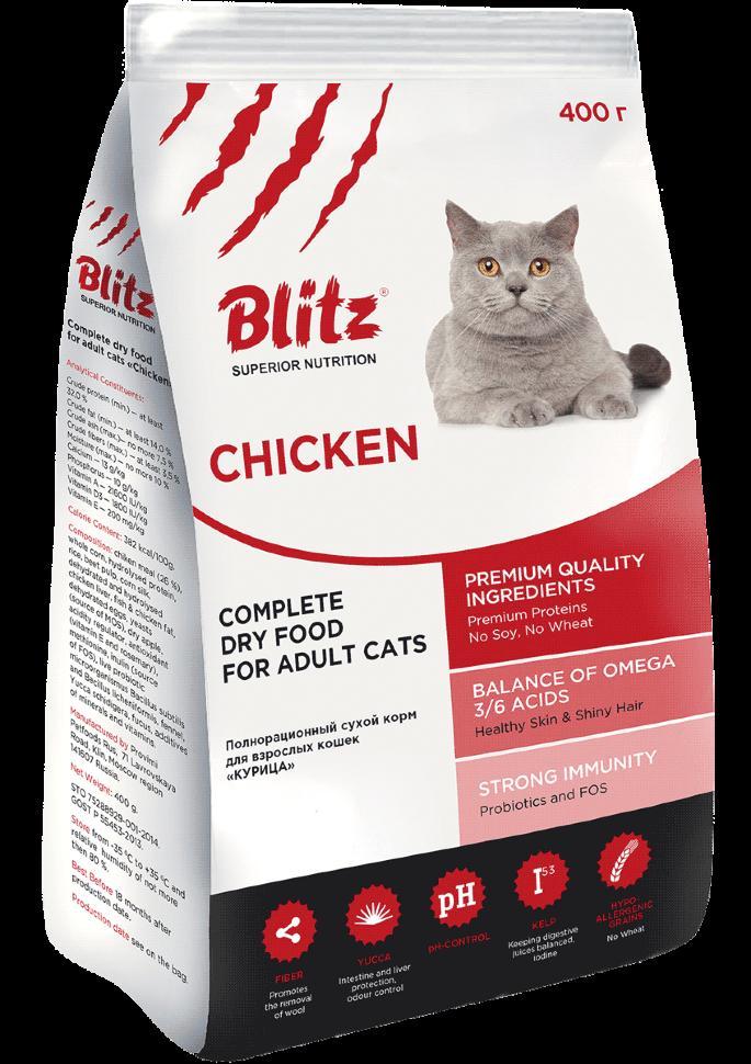Корм blitz для кошек