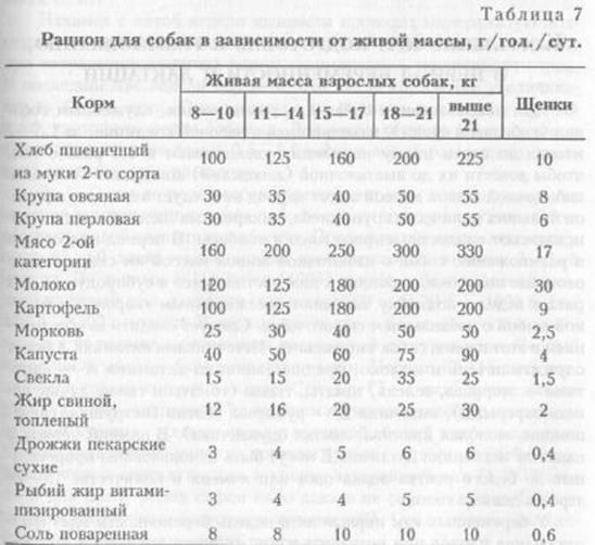 Количество мяса для собаки в день от веса