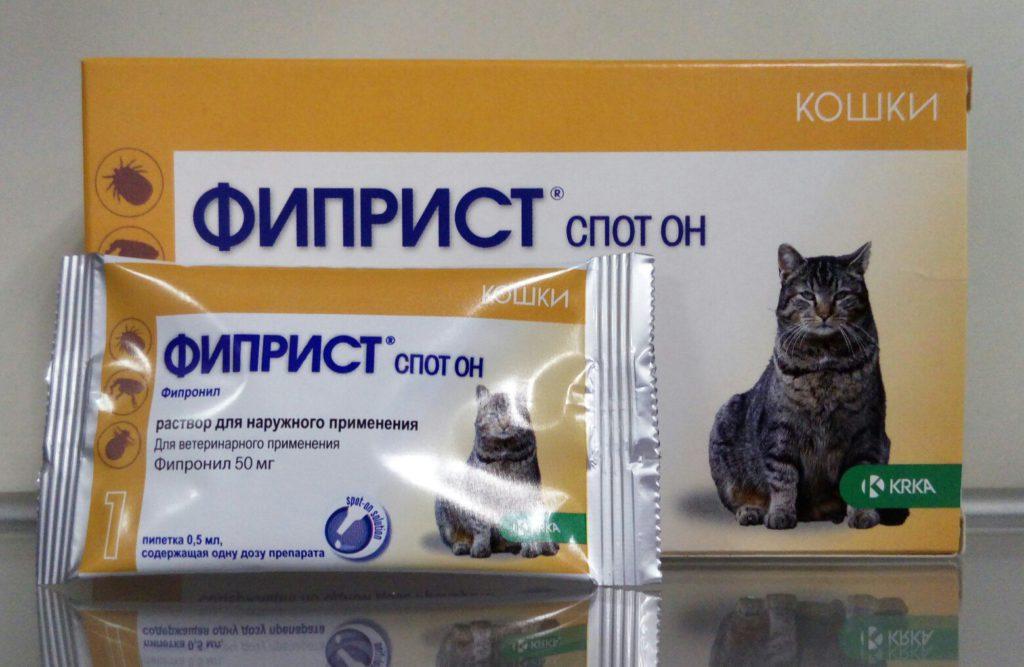 Спрей для собак и кошек krka фиприст от блох и клещей