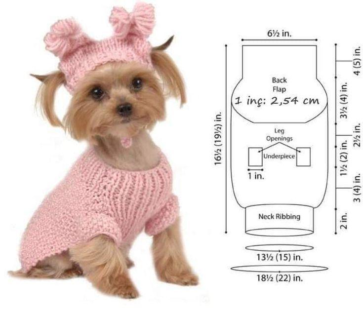Вязаная одежда для собак — для маленьких пород своими руками