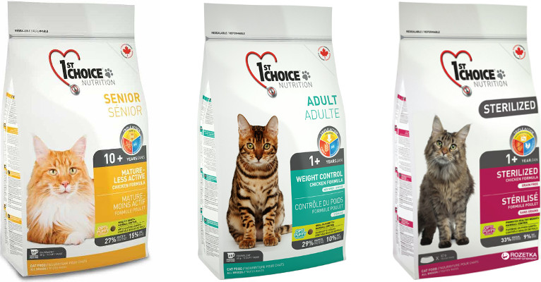 Всё лучшее— кошкам: особенности и разновидности кормов1st choice