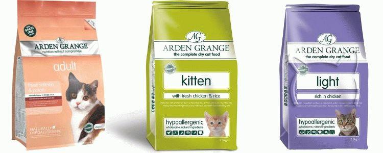 Arden grange для кошек: обзор, состав, цена, отзывы
