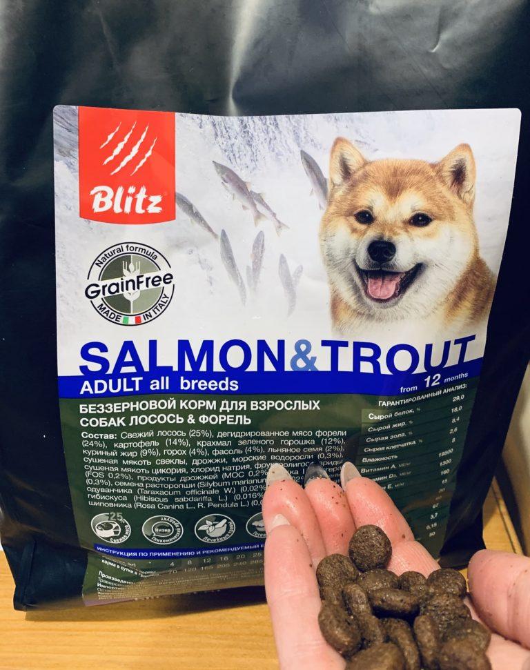 Корма для собак blitz