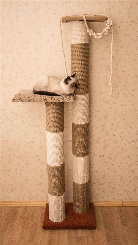 Как сделать когтеточку для кошки пошагово своими руками: технология, идеи и фото домиков