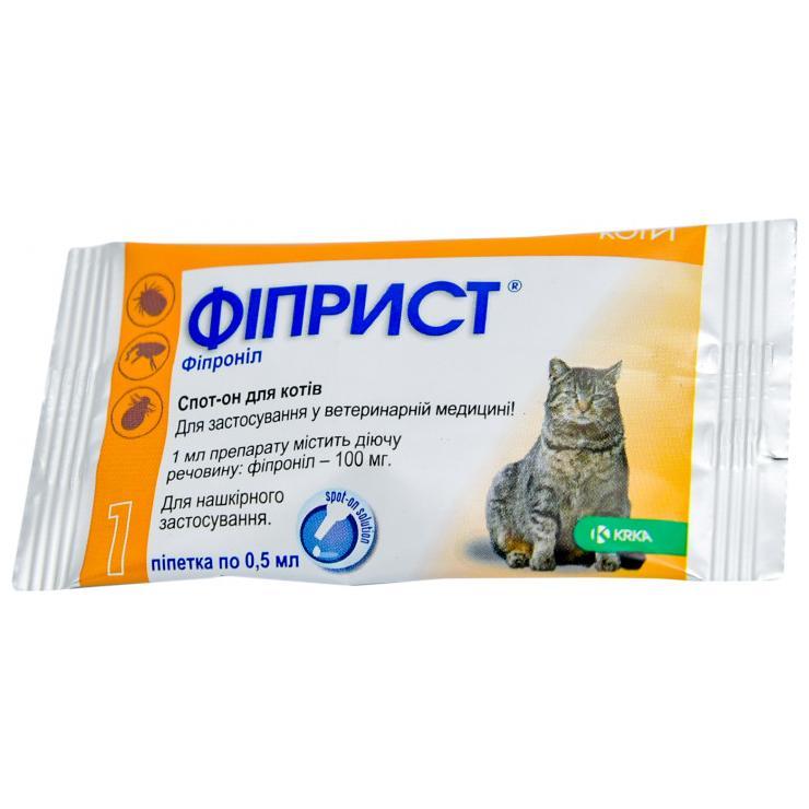Фиприст для кошек: инструкция по применению, противопоказания, отзывы, аналоги препарата