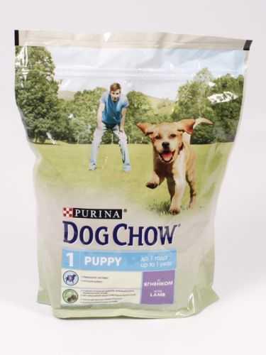 Корм для щенков purina dog chow puppy lamb