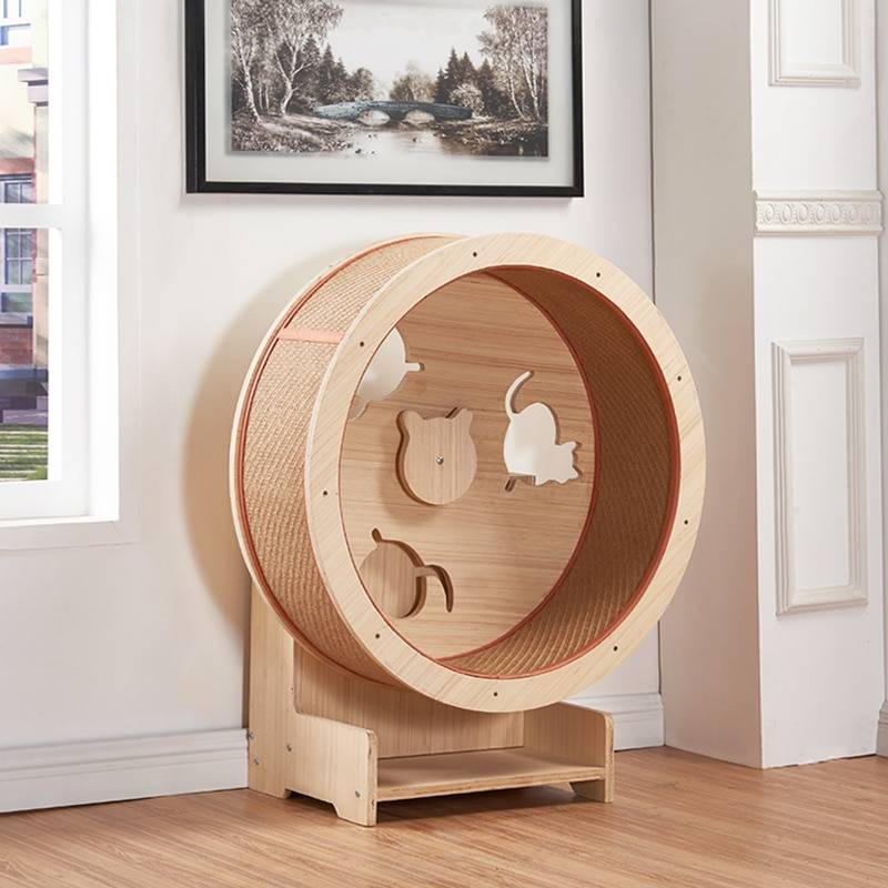 Беговое колесо для кошек своими руками: видео, инструкция, как сделать