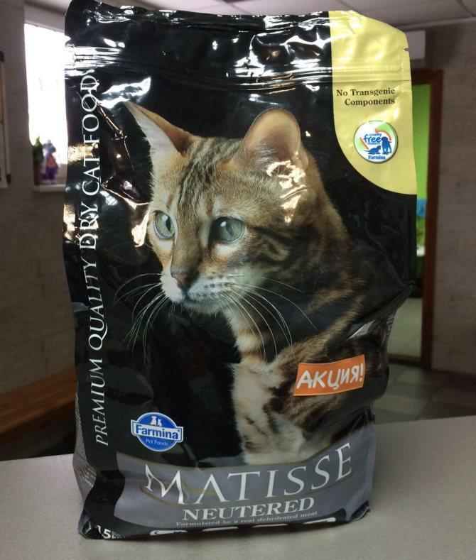 Корм для кошек matisse: отзывы, разбор состава, цена - петобзор