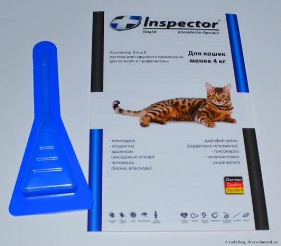 Инспектор капли для кошек: инструкция, отзывы, цена