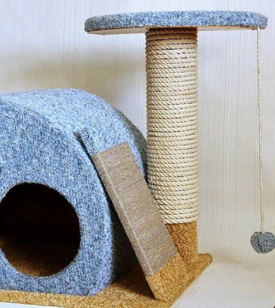 Делаем домик для кошки своими руками