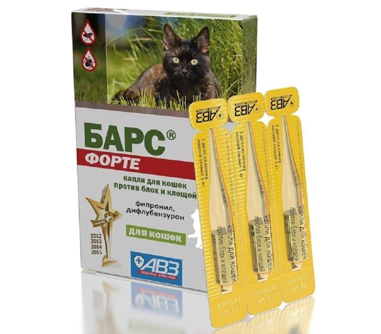 Барс капли от блох и клещей для кошек – инструкция по применению