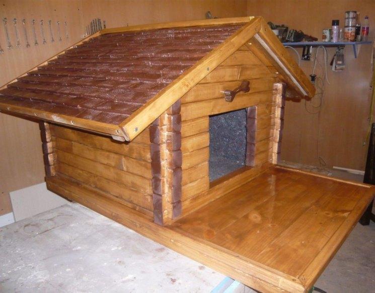 Будка  для собаки своими руками: фото, чертежи и схемы, подробная инструкция - как сделать теплую конуру, чем утеплить и как построить крепкий дом на зиму