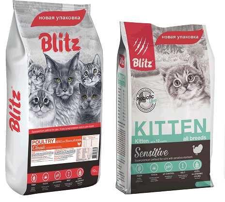 Обзор корма для кошек blitz