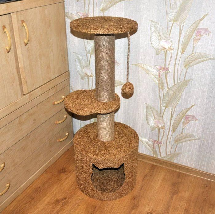 Когтеточка для кошки своими руками - 8 идей как сделать, инструкция и мастер-классы (фото)