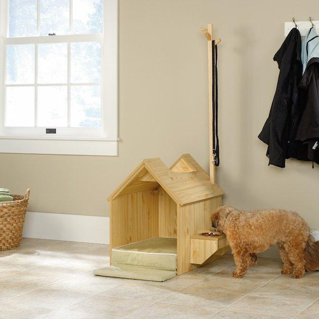 Домики для собак в квартиру (45 фото): как сделать своими руками? маленькие мягкие домики для собак мелких пород, большие деревянные будки для домашних собак