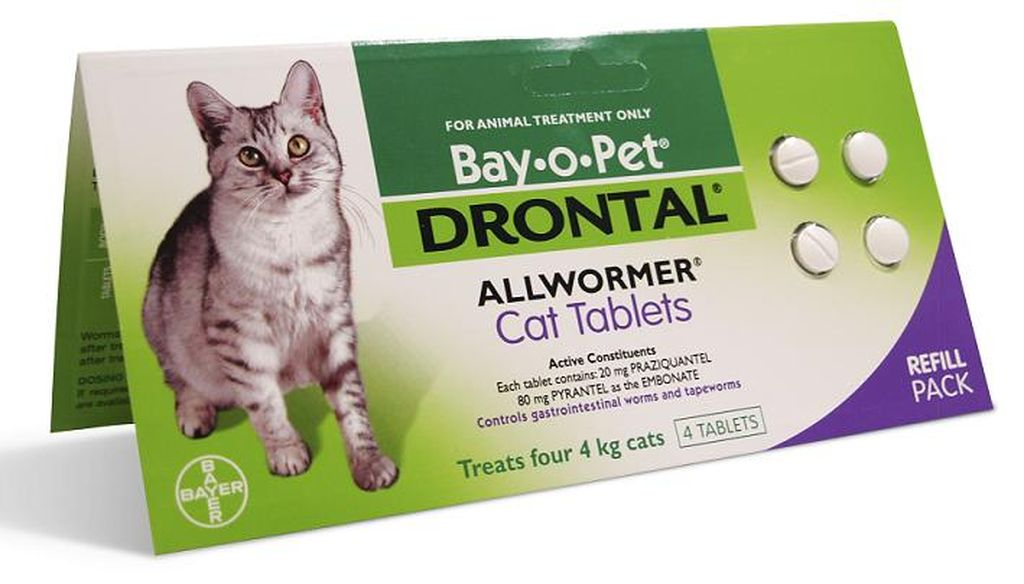 Дронтал для кошек — описание и особенности применения