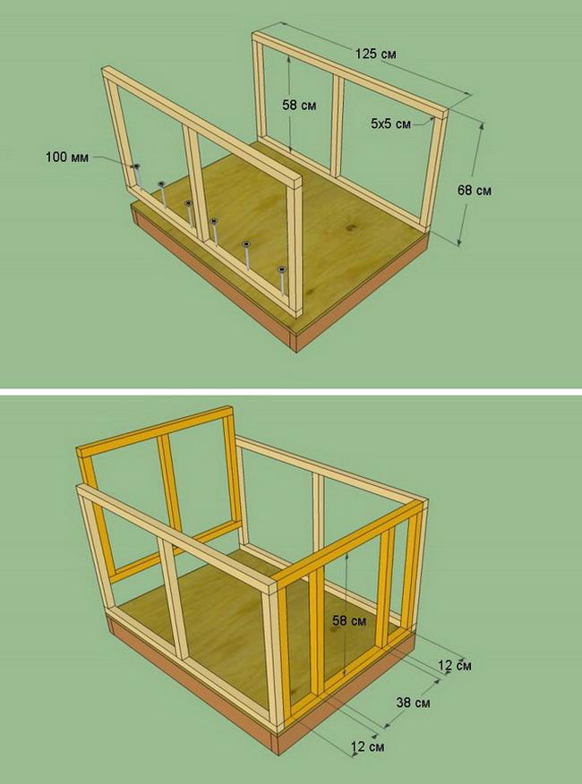 Будка для собаки своими руками: чертежи с размерами - строительство и ремонт