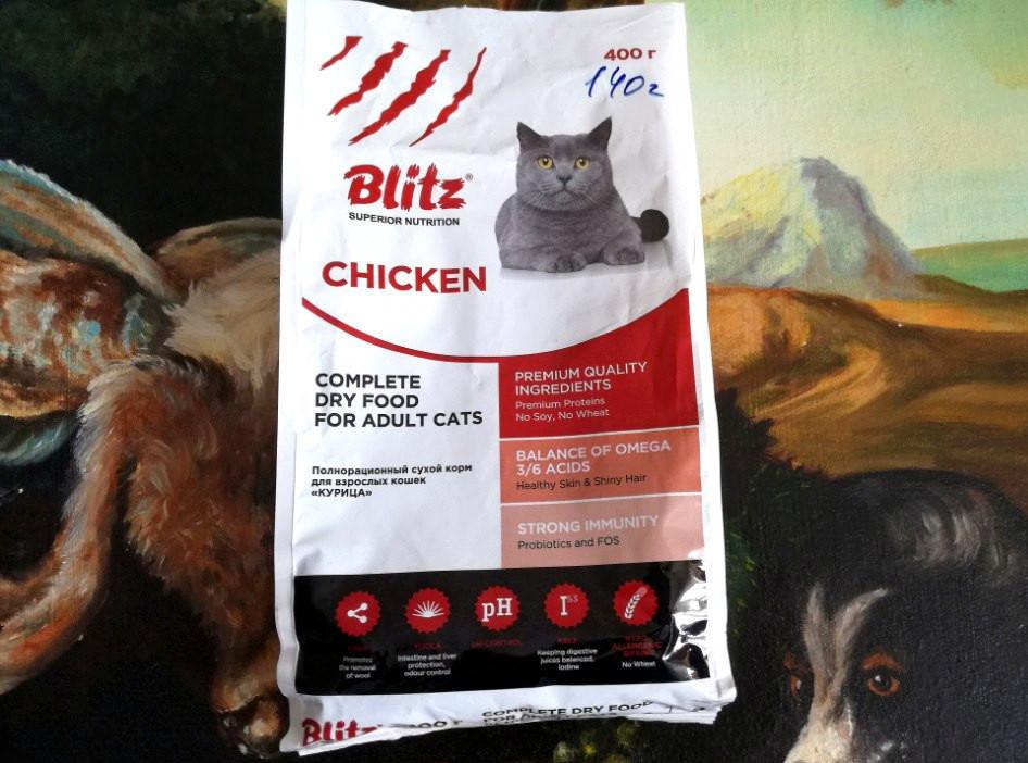 Blitz (блитз): обзор корма для кошек, состав, отзывы, плюсы и минусы
