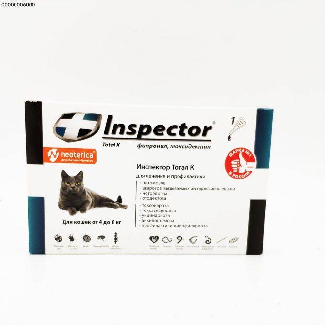 На страже вашего питомца! капли инспектор для кошек от блох и клещей