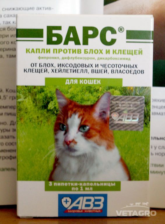 Капли барс от блох и клещей для кошек: инструкция по применению