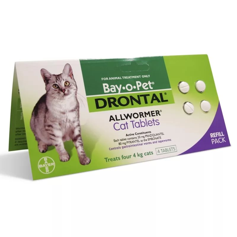 Дронтал для кошек. советы ветеринара о применении от глистов