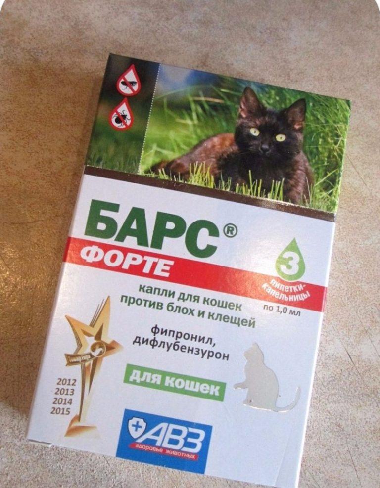 Как применять капли барс для кошек и котят