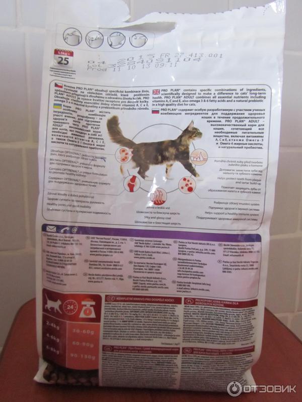 Корм purina pro plan для кошек: отзывы, где купить, состав