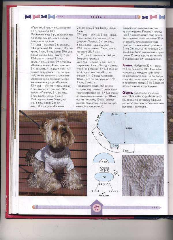 Подробное описание кофта для собаки спицами. утепляем питомца — вяжем одежду для собаки своими руками. вот принцип вязания этих свитерков и основная схема